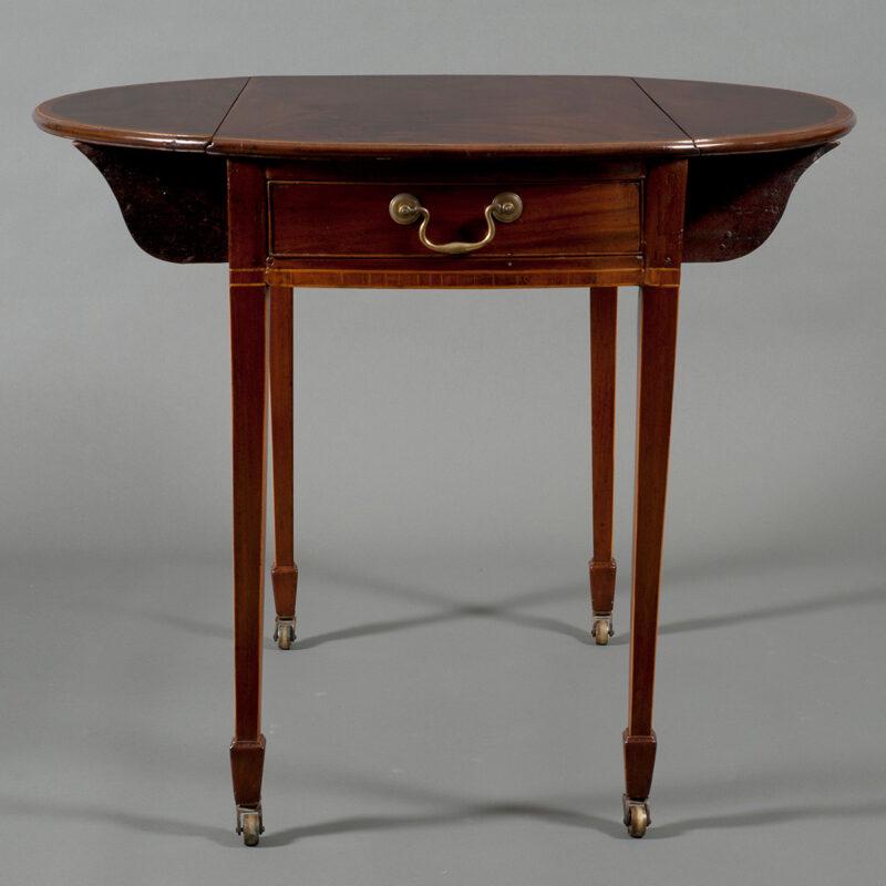 Federal Mahogany And Inlaid Games Table, Maryland, Circa
