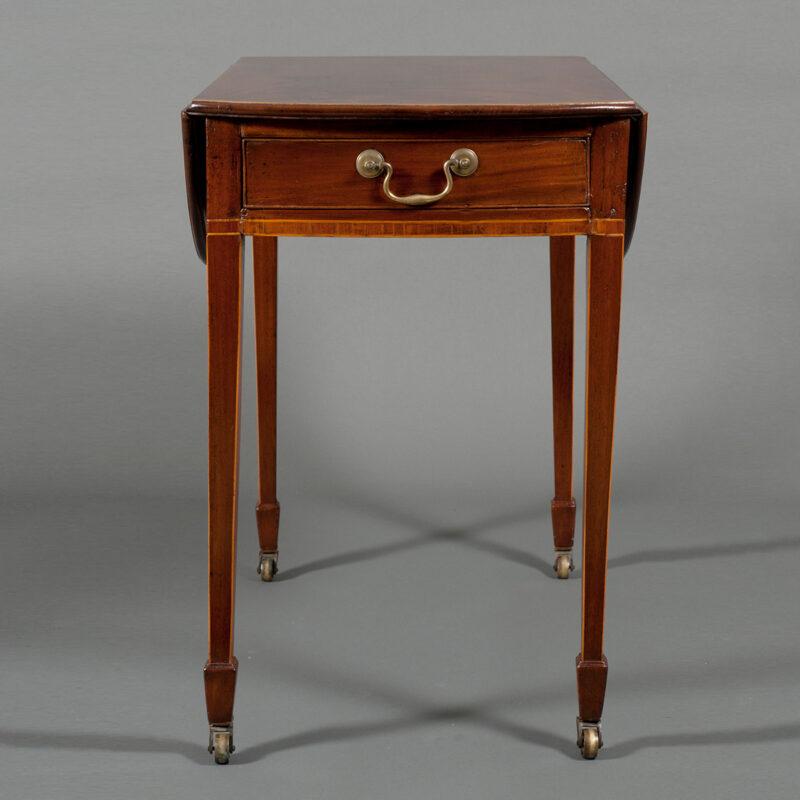 English Pair Of Mahogany Pembroke Tables