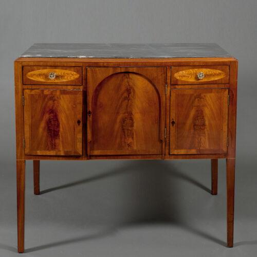 Federal Mahogany And Inlaid Portsmouth Sideboard Circa 1800 - POR