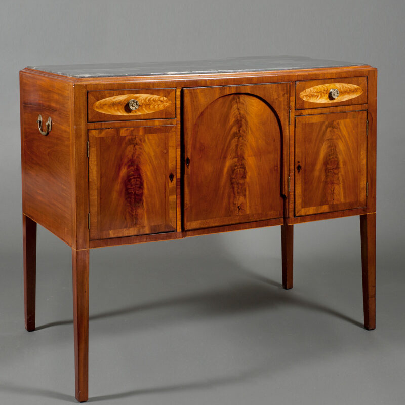 Federal Mahogany And Inlaid Portsmouth Sideboard Circa 1800 - POR