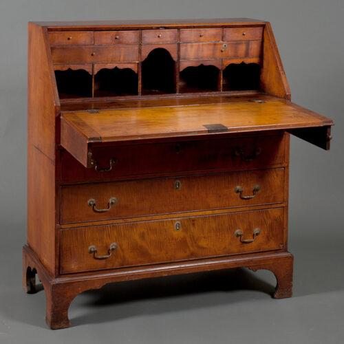 New England Maple Slant Front Desk - POR